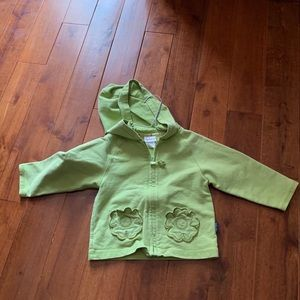 Girls Carters green jacket with heart pocket